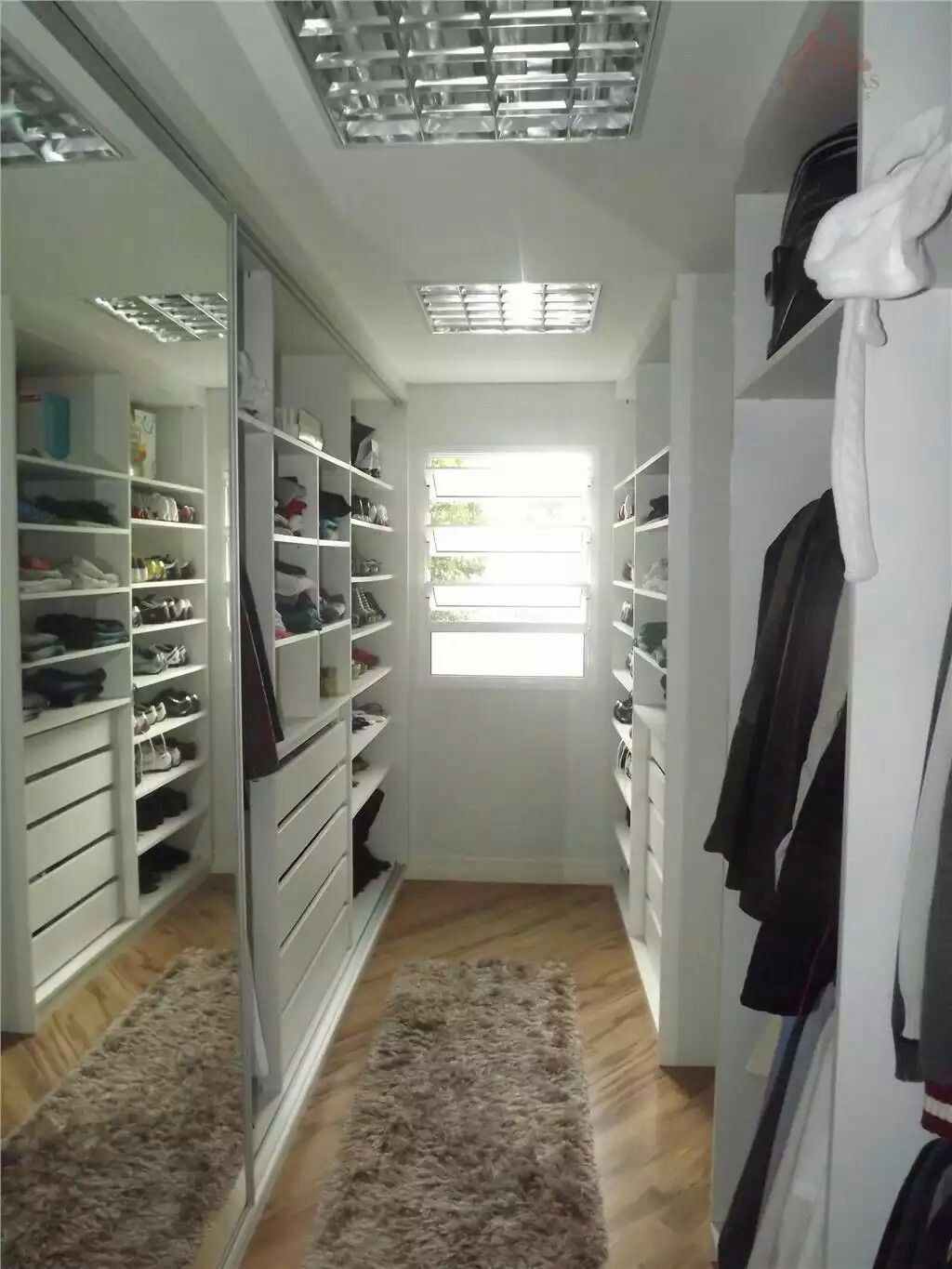 Built Ins In Walk In Closet