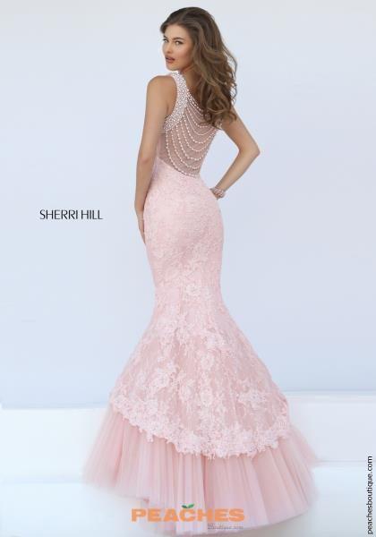 Sherri Hill Lace Mermaid Pink Dress 50112 | Sherri Hill Fall 2016 ...