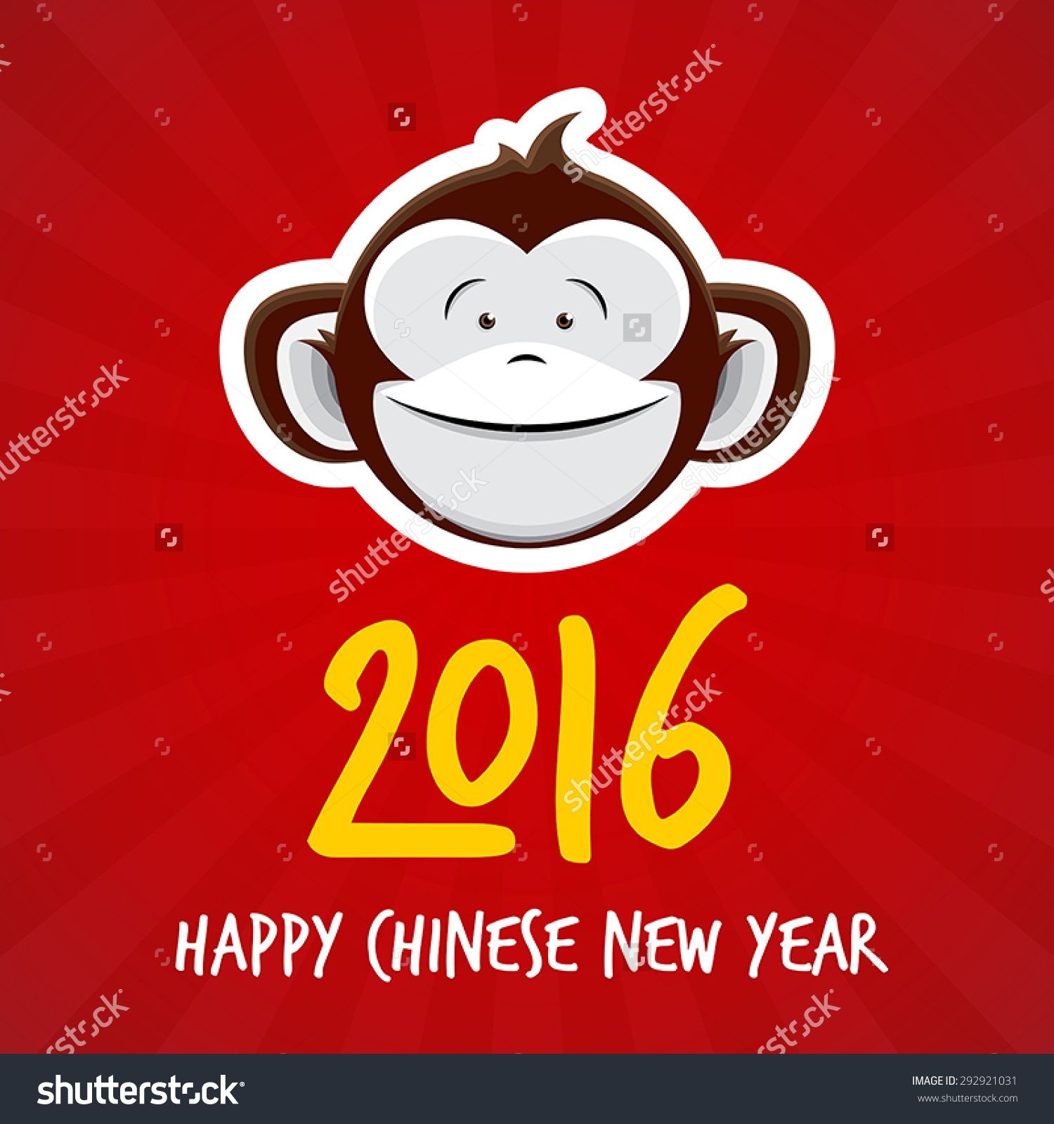 2016 chinese new year of the monkey happy chinese new year vector design red buy this stock vector on shutterstock find other images - When Is Chinese New Year 2016