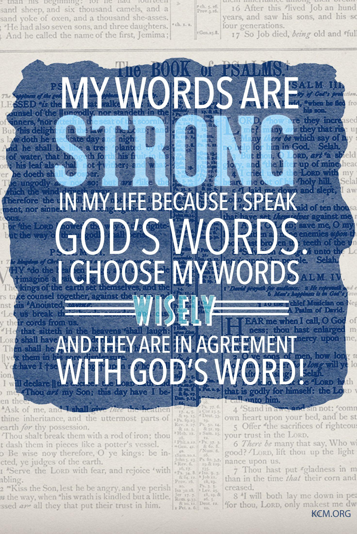 I speak God's Words! #KCM #inspiration #faith |  Words, Healing scriptures, Bible qoutes