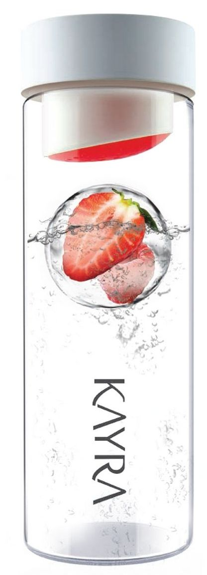 Ice Ball Flavour It Glass Water Bottle
