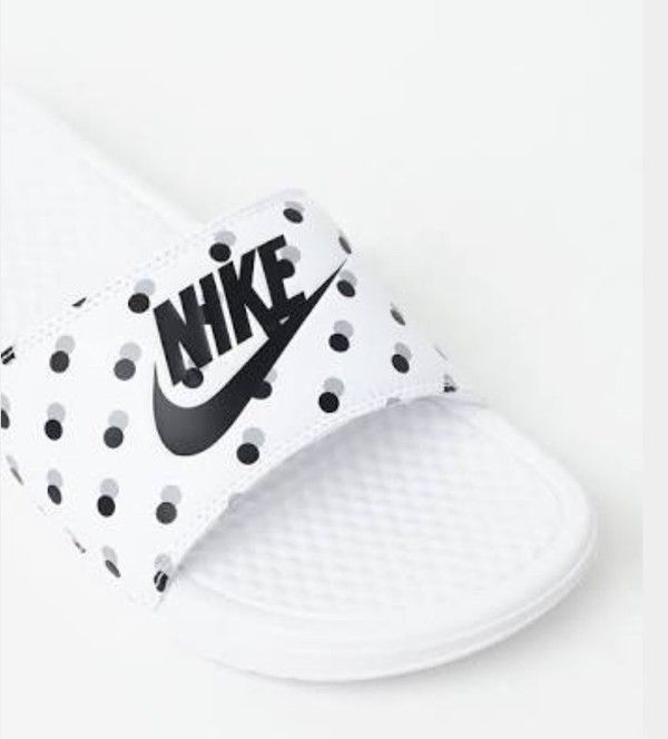 0c66b7f48 shoes nike polka dots nike slides slide shoes