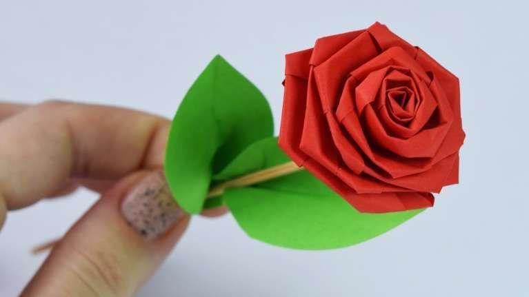A Leaf f Rose Origami Flower #origamirose #origamiinstructions ... | 431x767