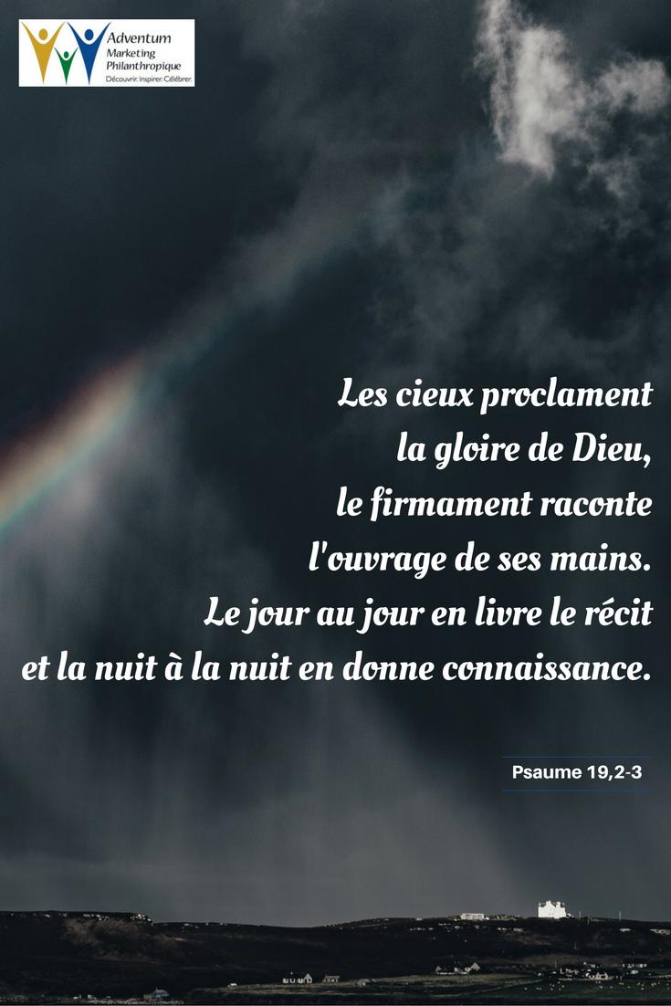 28 octobre 2016 – Psaume 19,2-3   Psaumes, Texte biblique, Parole biblique