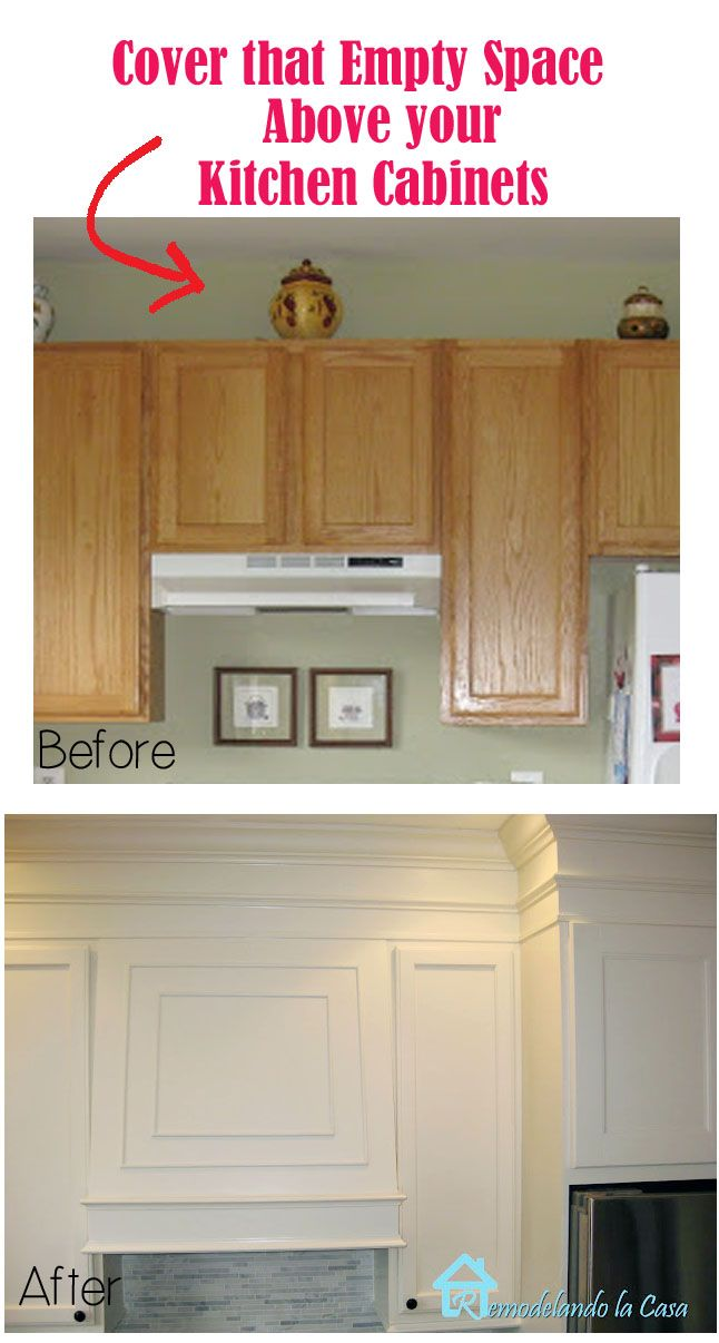 Closing the Space above the Kitchen Cabinets | Pinterest | Moldings ...