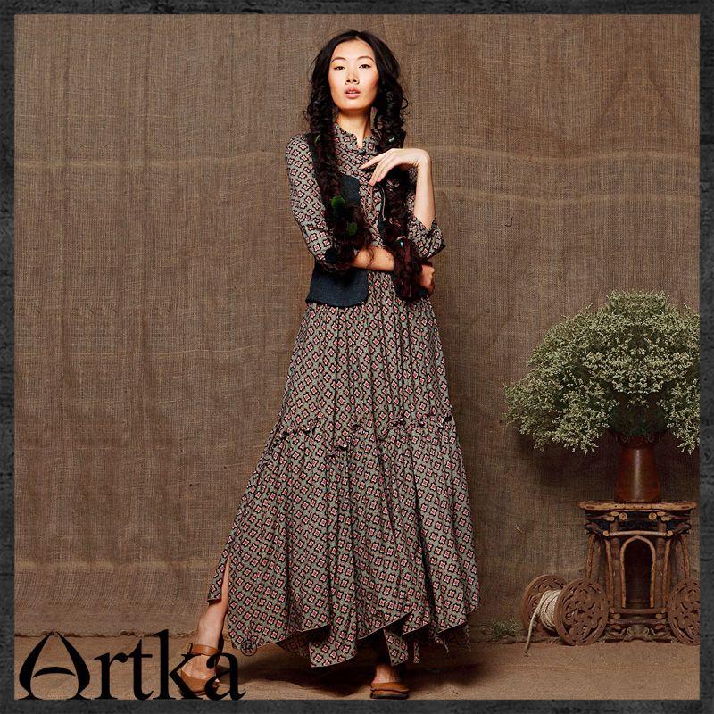Платье длинное в стиле бохо