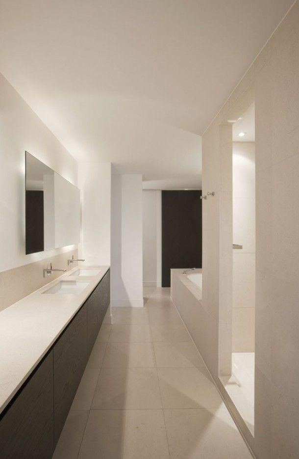 strak wit badkamer Door gos | wnętrza | Pinterest | Bathroom ...