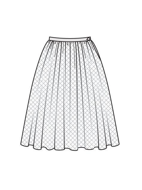 Pleated skirt working drawing - Google Search ...