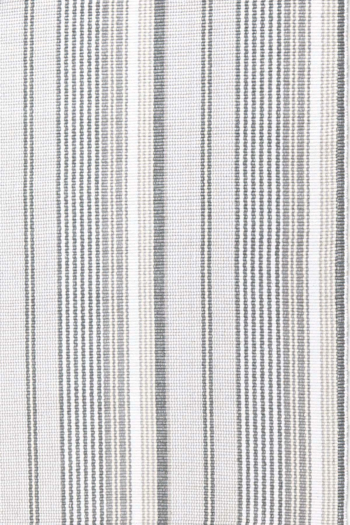 Dash And Albert Rugs Gradation Ticking Grey Stripe Area Rug