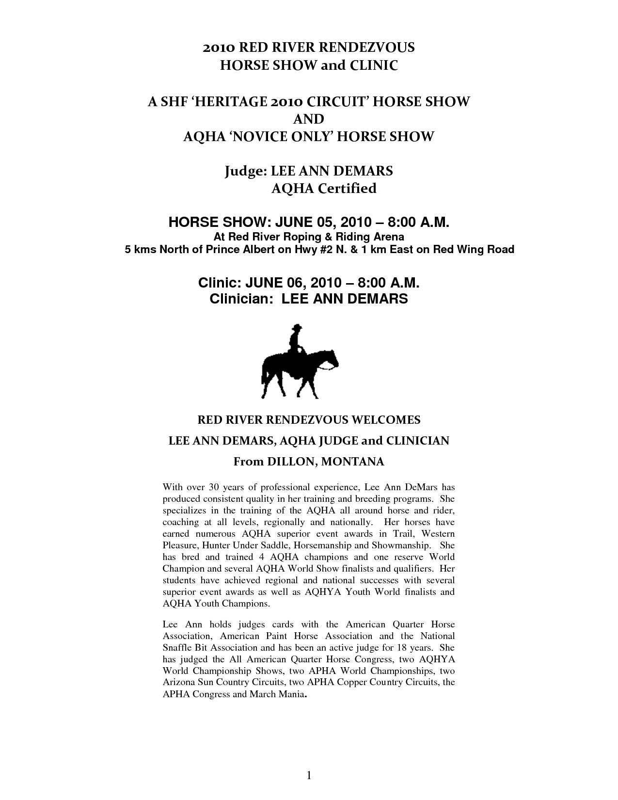 Horse Template Printable 2010 Show Forms Red River Riding Roping Club Home