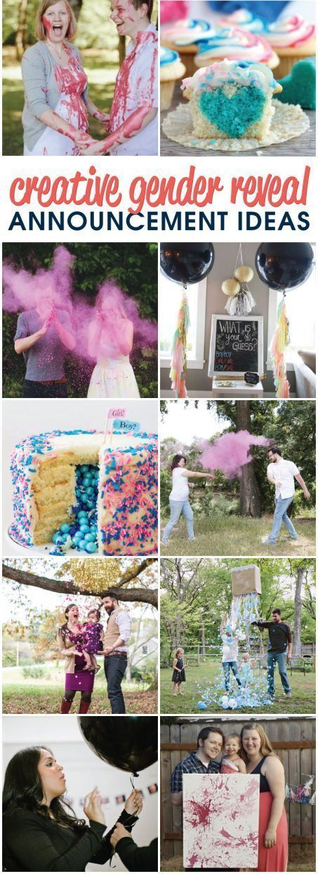 11 Creative Gender Reveal Announcement Ideas Creative Gender Reveals Gender Reveal Announcement Baby Gender Reveal Party