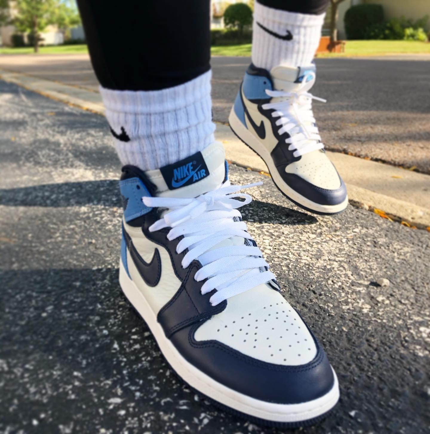 Air Jordan 1 Retro High Og Obsidian University Blue Nike Jordans Air Jordan 1 Retro High Og Obsidian University Blue In 2020 Jordans Air Jordans Jordan 1 Blue