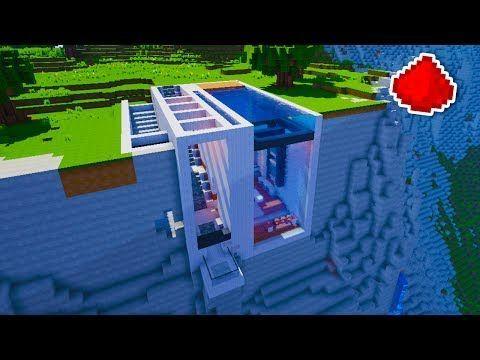 Minecraft Cliff Side Modern Redstone House Youtube Minecraft Plans Minecraft Mansion Minecraft Architecture