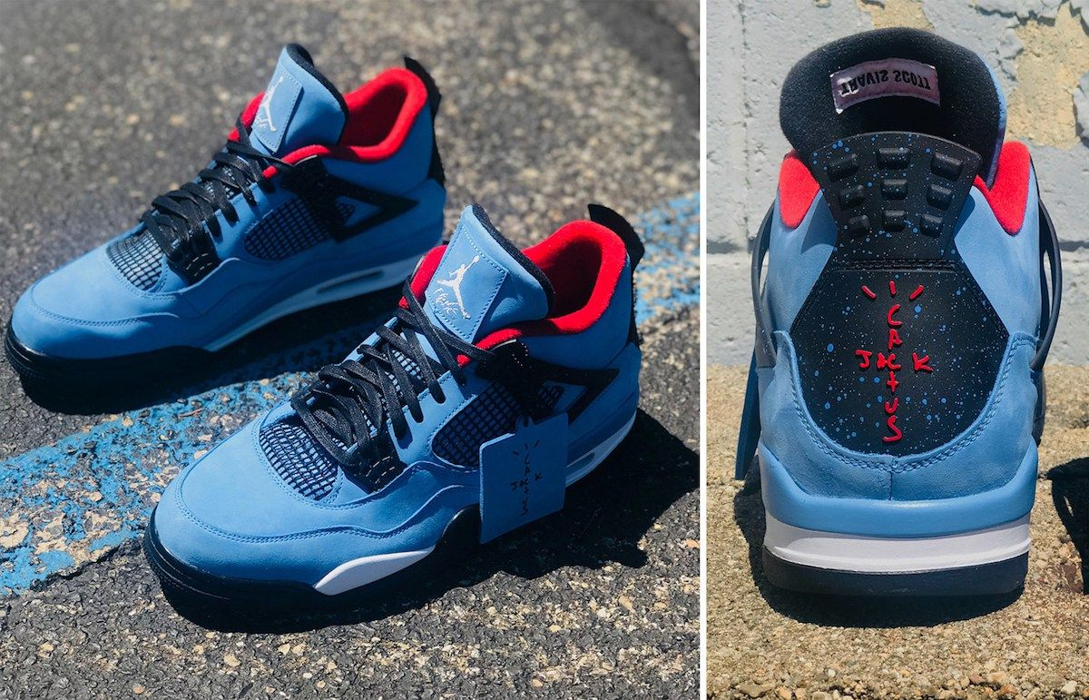 Travis Scott X Air Jordan 4 Retro Oilers New Images Release