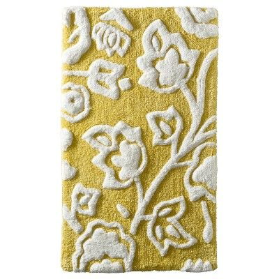 Etonnant I Spied With My Target Eye: Threshold™ Floral Bath Rug   Yellow, From