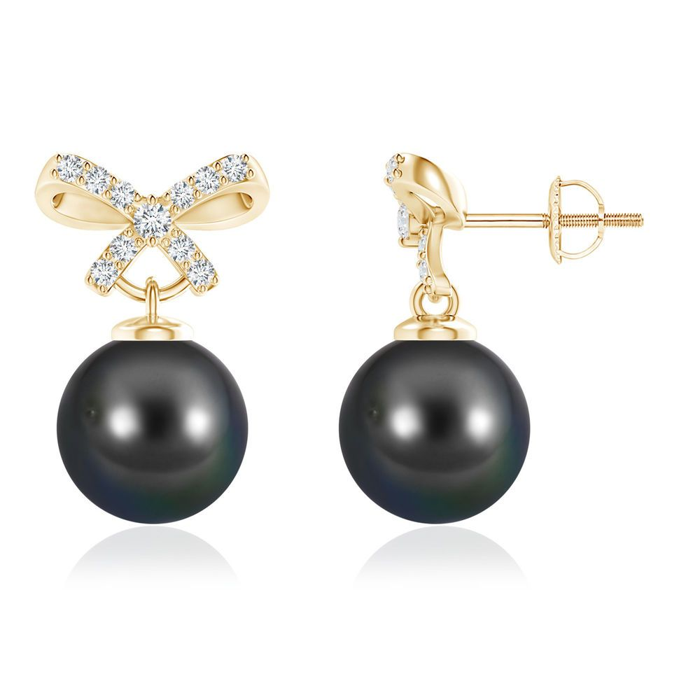 Angara Tahitian Pearl Earrings White Gold UtWclEN8e