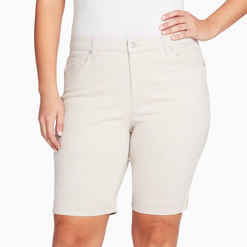 2256df93c45 Plus Size Gloria Vanderbilt Amanda Embellished Bermuda Shorts in ...