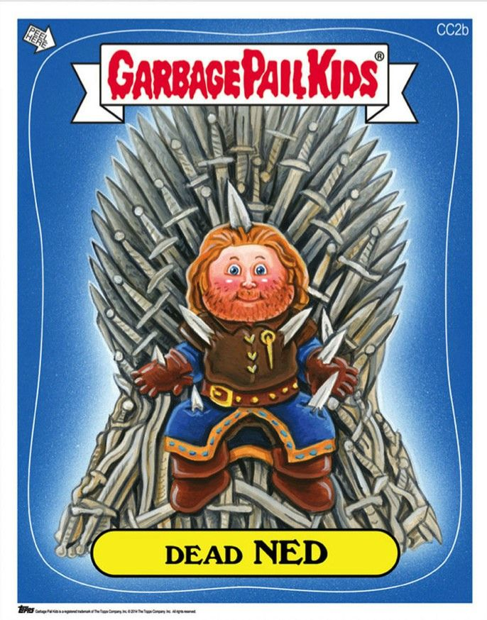 Game of Thrones and Breaking Bad Immortalized as Garbage Pail Kids | Entertainment Buddha