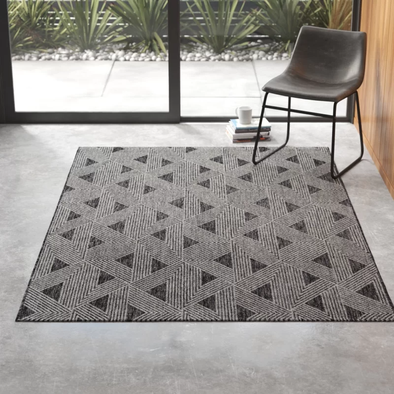 Zane Charcoal Indoor Outdoor Area Rug In 2020 Outdoor Area Rugs Outdoor Rugs Beige Area Rugs
