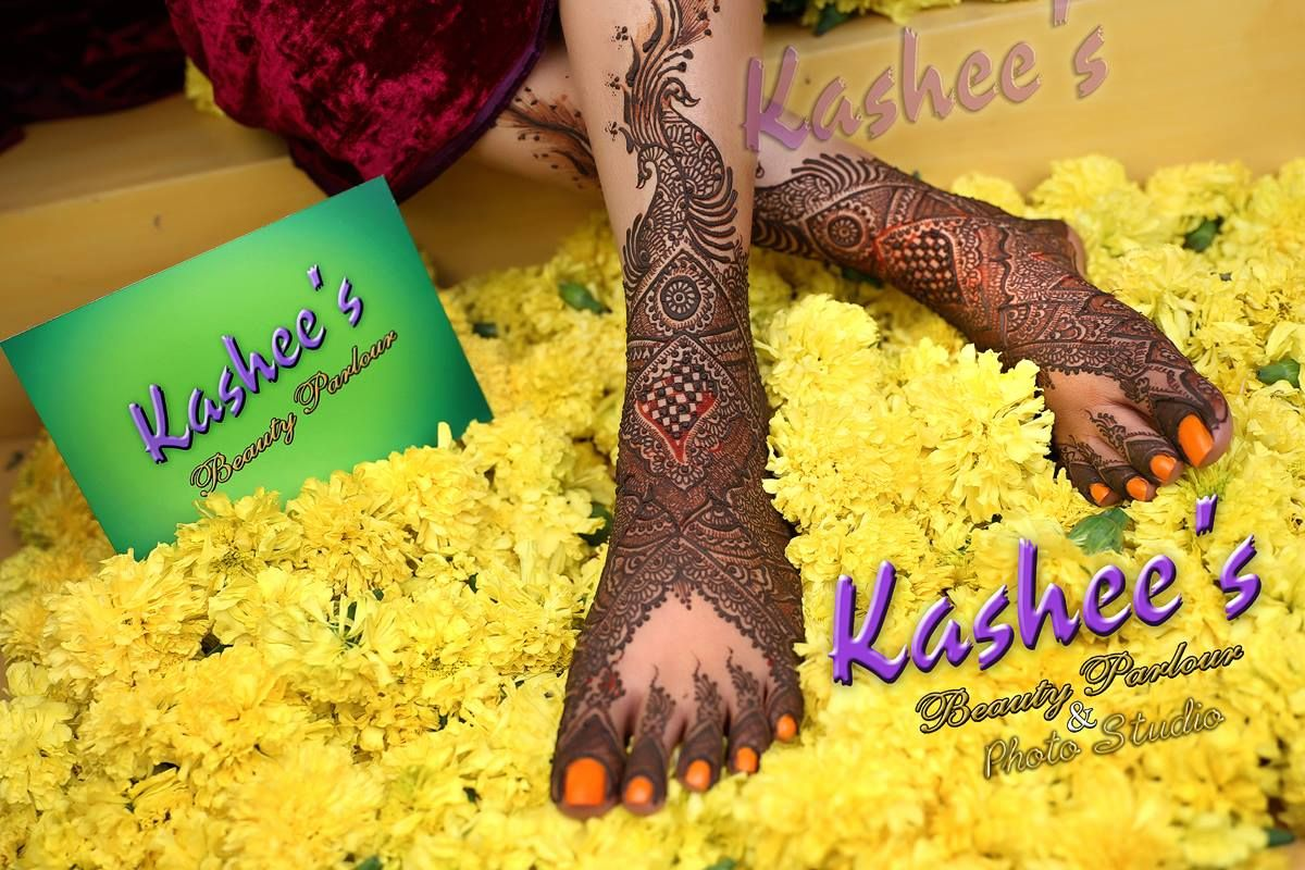 Kashee Bridal Mehndi : Beautiful bridal feet mehndi design by kashee s beauty parlour