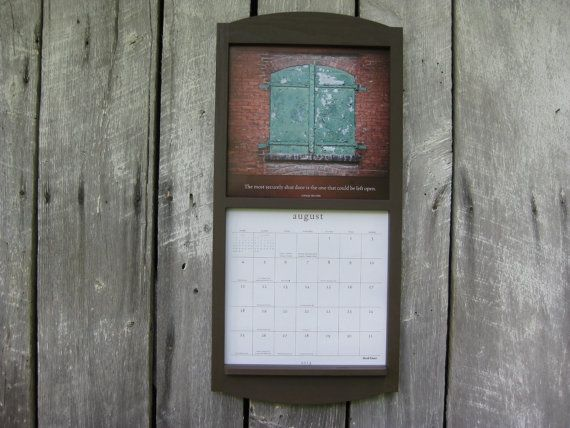 12 X 24 Calendar Frame Calendar Holder In Wood Chocolate Coffee