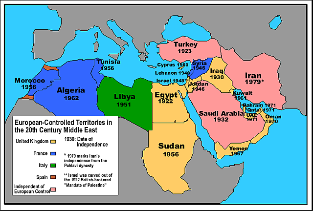 Image result for middle east independence map