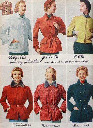 1950s Coats And Jackets History Jackets For Women Vintage Jacket 1950s Fashion