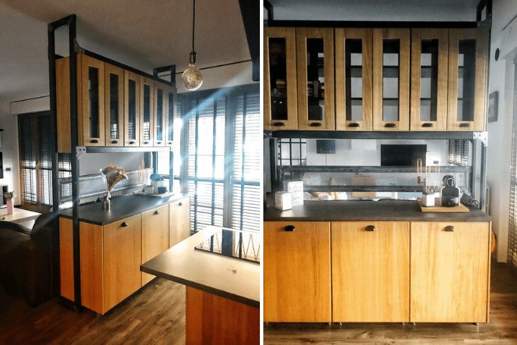 Amazing Open Kitchen With Cabinets As Space Divider Ikea Hackers