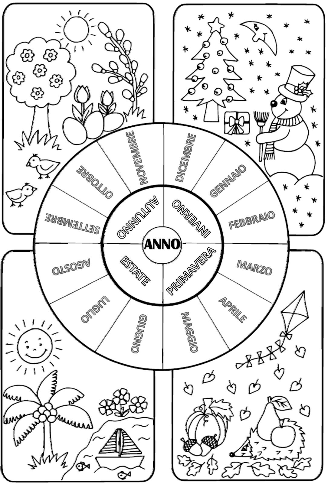 Schede didattiche sulle stagioni scuola primaria nn52 - Immagini di colorare le pagine del libro da colorare ...