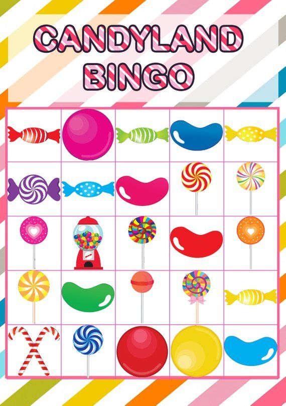 picture relating to Printable Candyland Cards called Candyland Bingo Playing cards Printable - 30 Playing cards , Candyland