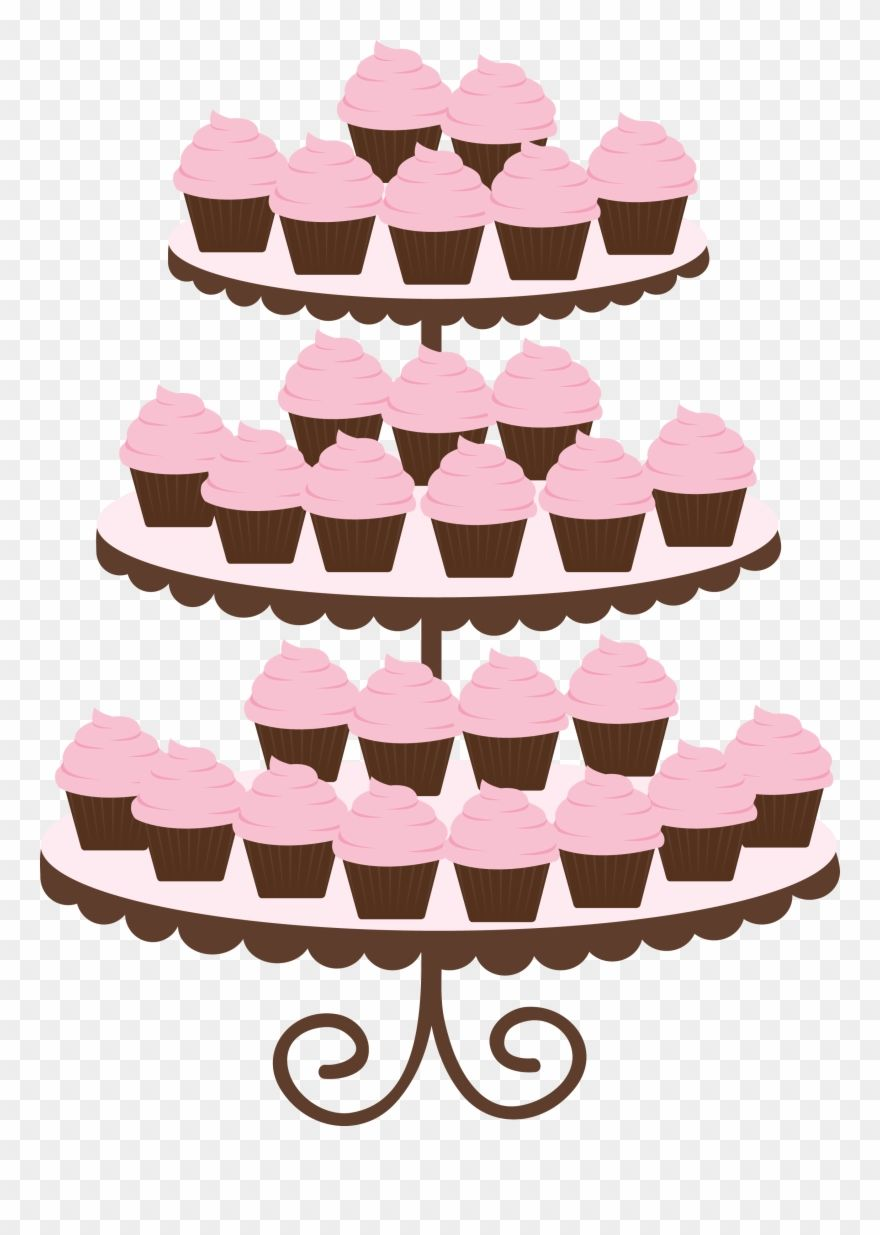 Photo By Danimfalcao Pink Cupcake Stand Clip Art Png Download 113217 Is A Creative Clipart Download The Tran Clip Art Pink Cupcake Stand Pink Cupcakes