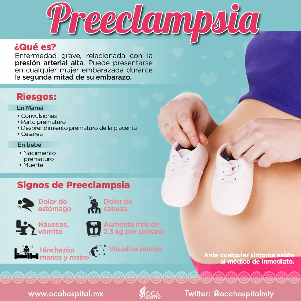 Síntomas de hipertensión y embarazo