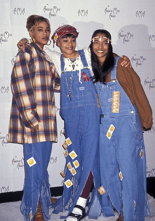 Tlc Also Wearing Overalls This Time With Condoms All Over Them