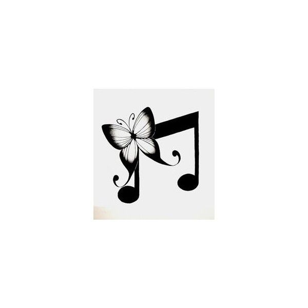 (1) Sketchy on Pinterest | Music Notes, Cherry Tree and Music Note... via Polyvore