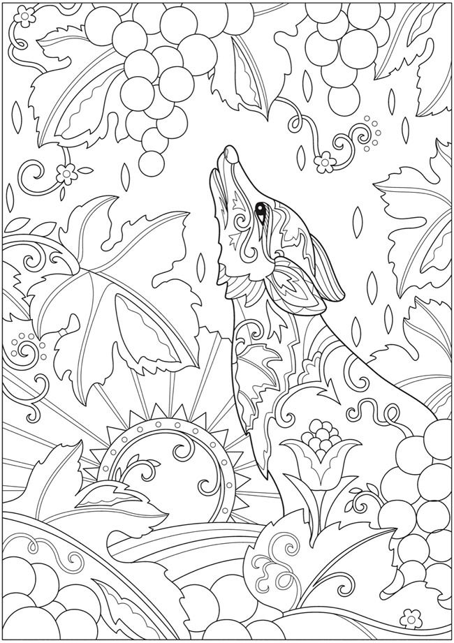 Welcome to Dover Publications. Creative Haven Fanciful Foxes ...