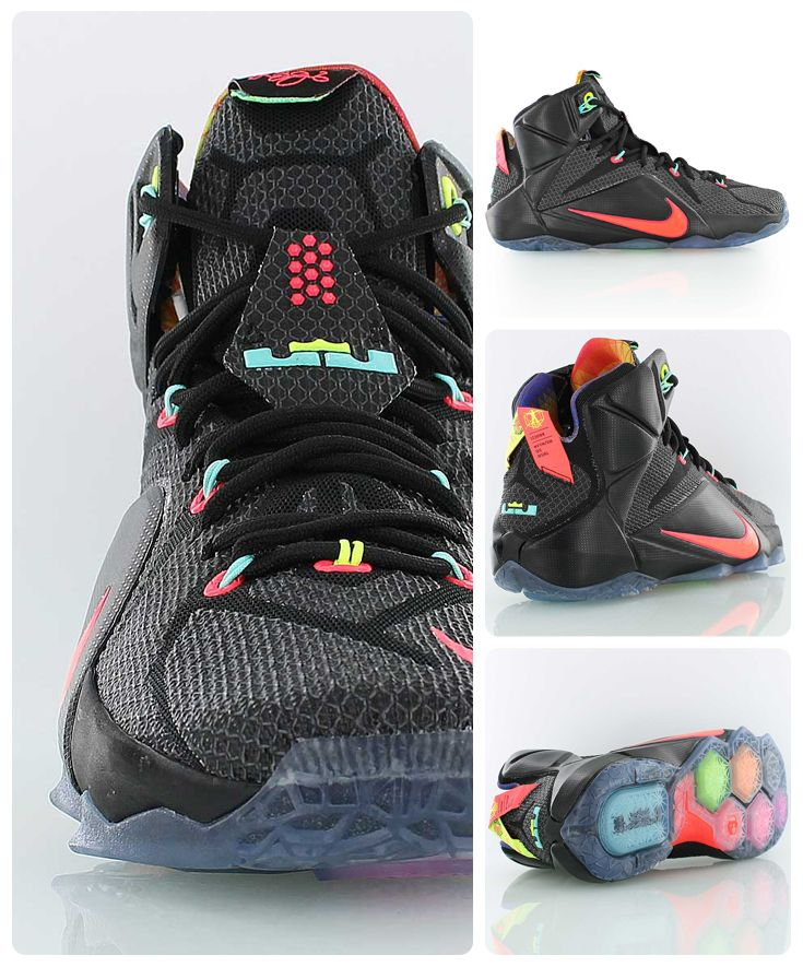 buy online 7a5a6 5ed64 ... black hyper punch volt onlinenike shoes for toddlers c96d8 91403   closeout nike lebron 12 data king james twelfth nike signature basketball  shoe in ...