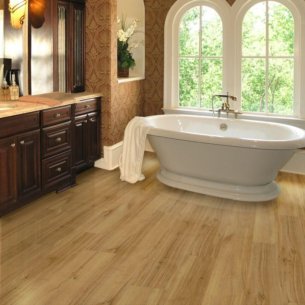 Love this one the best of all! Waterproof, can install over existing wood/linoleum, doesn't need an underlayment, easy snap together installation. TrafficMASTER Allure Ultra 7.5 in. x 47.6 in. Markum Oak Light Resilient Vinyl Plank Flooring (19.8 sq. ft. / case)-725110.0 at The Home Depot