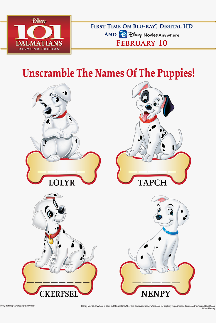 Fun Kids & Family Activities Unscramble the Names of the