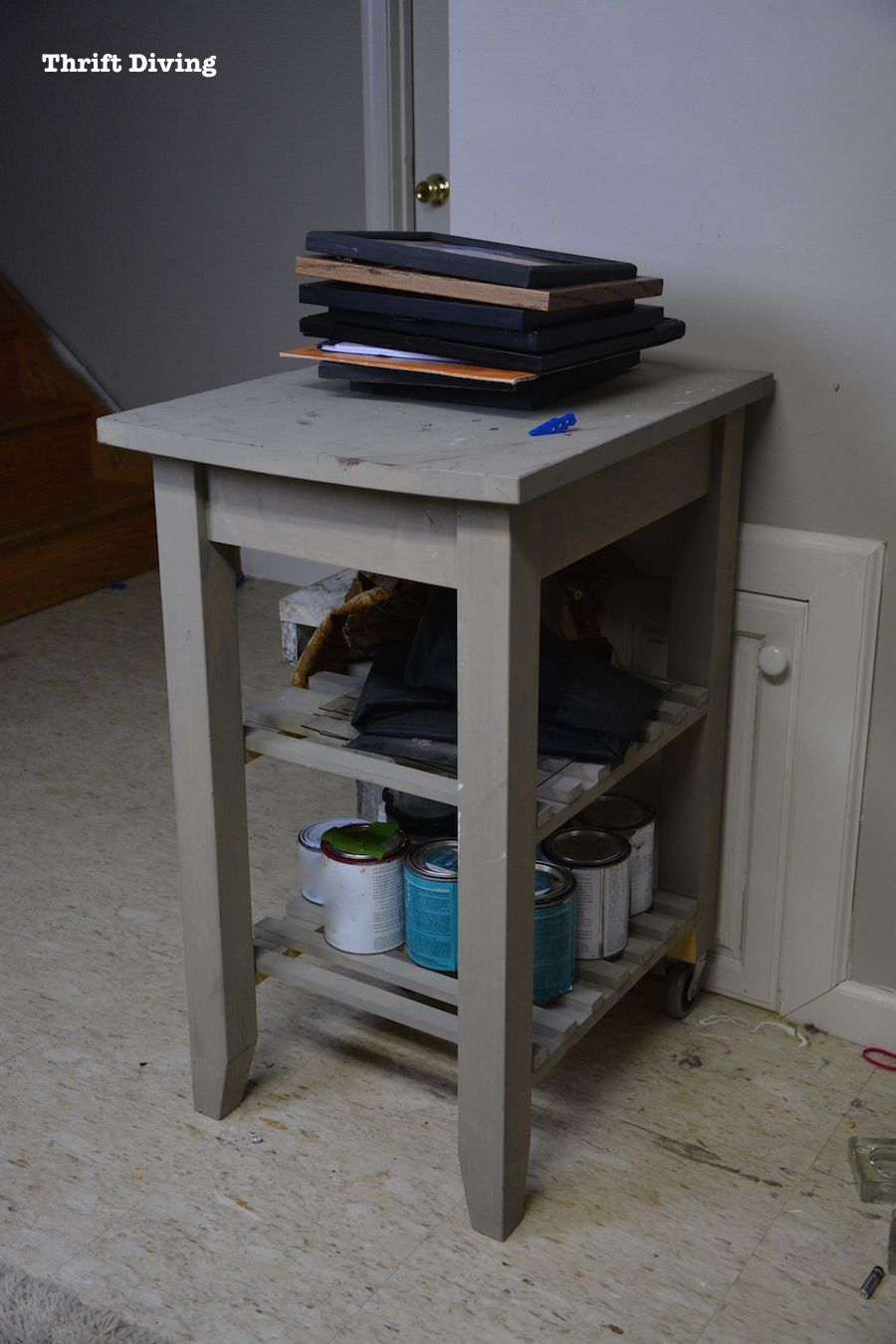 BEFORE & AFTER: How to Repurpose a Kitchen Cart and Get Organized!