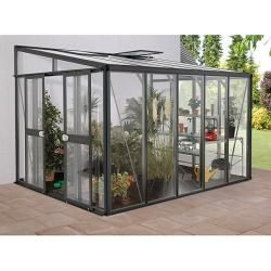 Photo of Vitavia Helena 8600 greenhouse (2.66 x 3.34 x 2.39 m, color: anthracite, single-pane safety glass