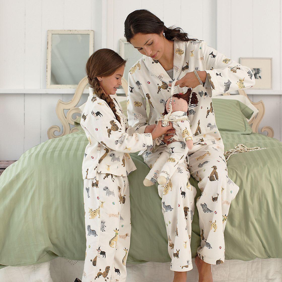 a094c28e2191 Dog Days Matching Mother Daughter Pajamas   Doll PJs