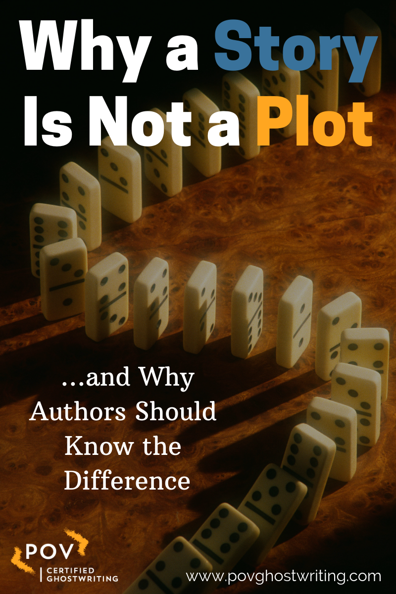 There's an important difference between story and plot, but too many
