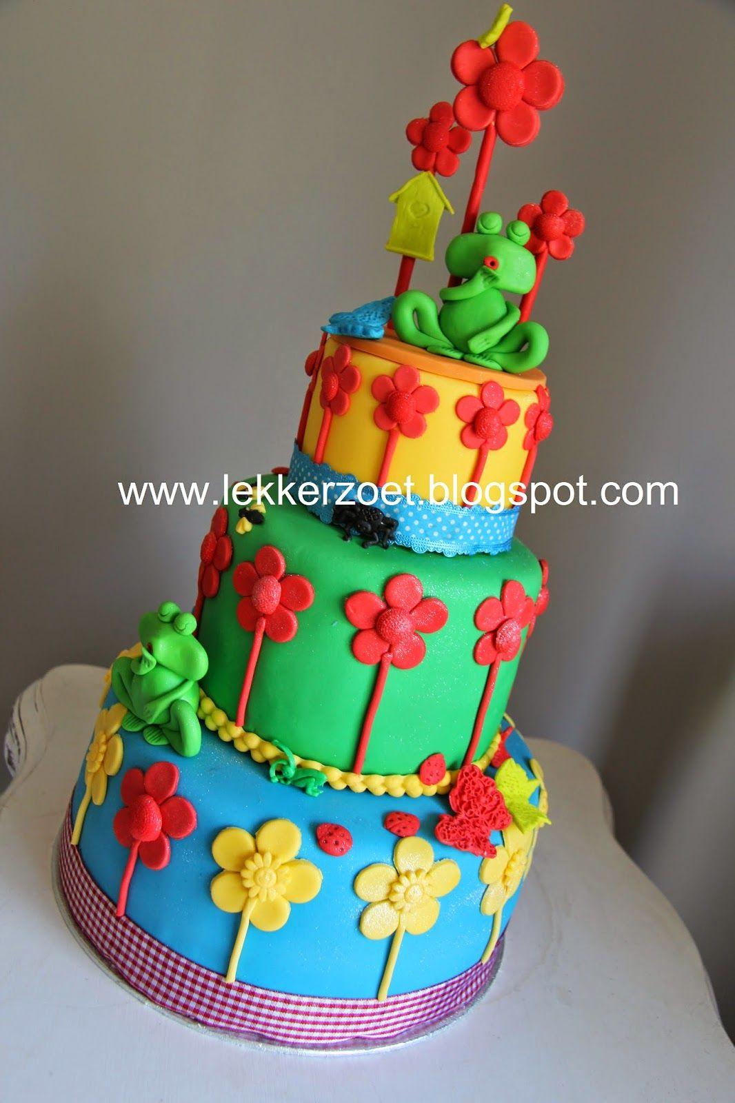 lekker zoet: eigen ontwerp taart van de kleuterklas groep 1-2 k...