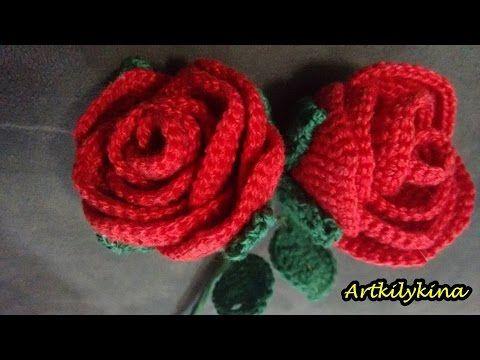 Mega Rosa!!! Simone Cavagnoli  Simone artes em croche - YouTube ... 58801d921b3