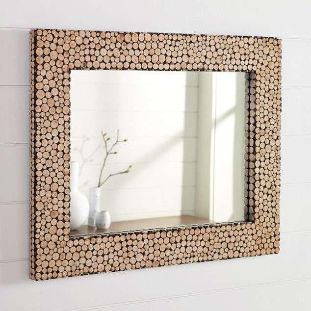 Specchi Artistici Da Bagno.Cornici Fai Da Te Idee Creative Cornice Con Tappi Di
