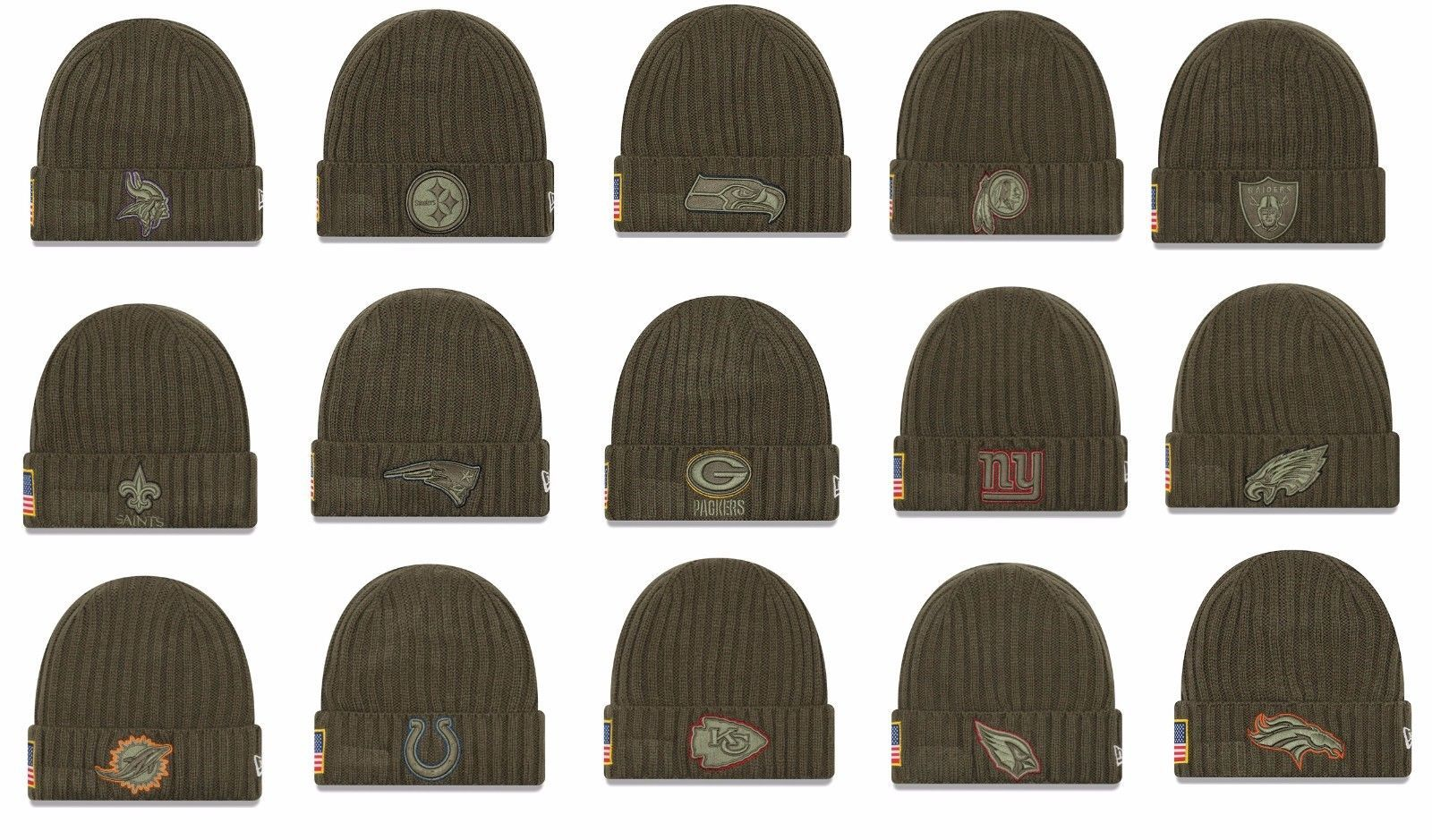 NFL 2017 Salute To Service Knit Hat