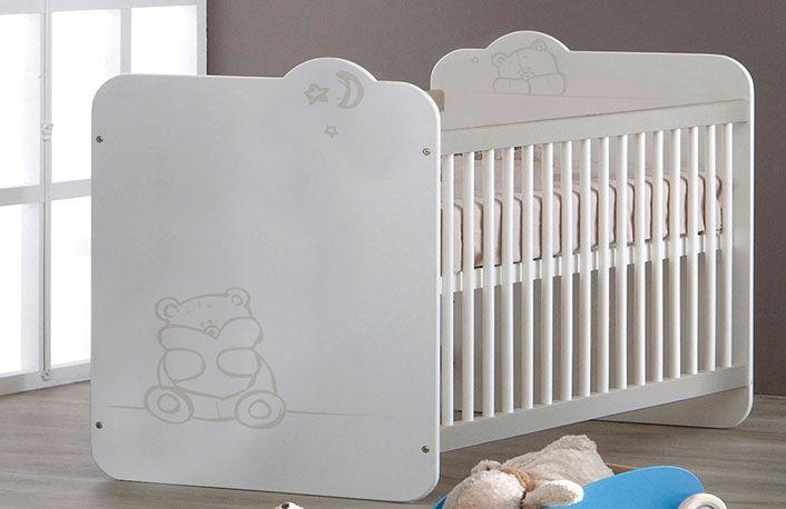 Cuna blanca para bebé con dibujo de oso | Dibujos de osos, Para ...