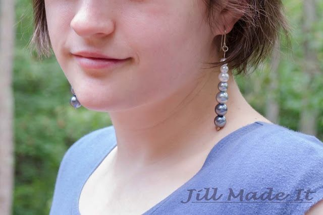 Jill Made It | Fast, Easy, and Elegant Ombre Earrings Tutorial {Plus How to Make Hammered Headpins}