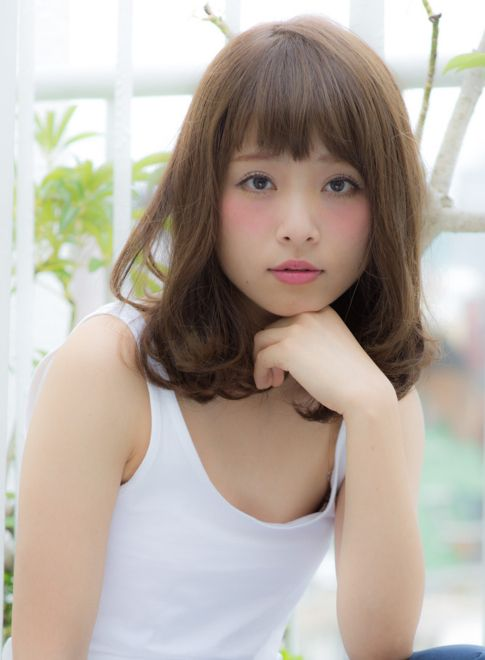 大人かわいいゆるふわミディ☆ 【coiff1rst 原宿】 Http Beautynavi Woman
