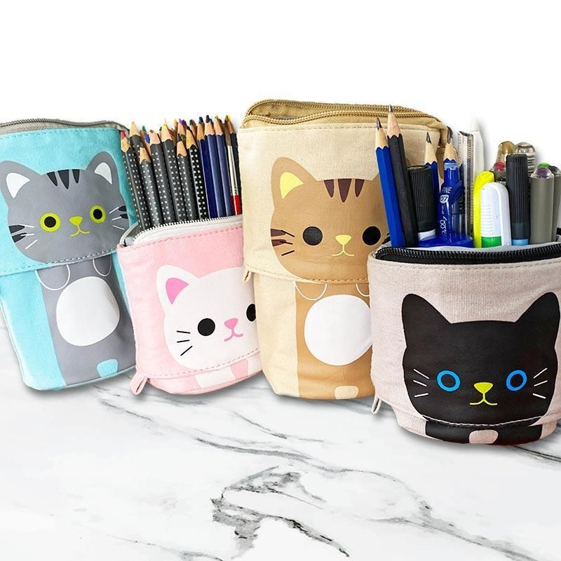 Cat Sliding Pencil Case Buy A Cat Cool Pencil Cases Animal Welfare League